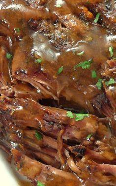 """Slow Cooker """"Melt in Your Mouth"""" Pot Roast - Crockpot recipes - Roast Recipes Crockpot Dishes, Crock Pot Slow Cooker, Crock Pot Cooking, Beef Dishes, Slow Cooker Recipes, Slow Cooker Beef Roast, Crockpot Meals, Crock Pots, Pork Roast"""