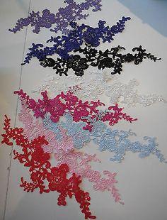 Floral lace Applique / decorative sewing lace motif is for sale.Various colours