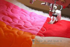 I want to learn to free motion quilt with my sewing machine..this is a good tutorial.