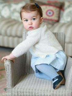 Princess Charlotte Elizabeth Diana of Cambridge. Official First Birthday Portrait. Taken by HRH The Duchess of Cambridge