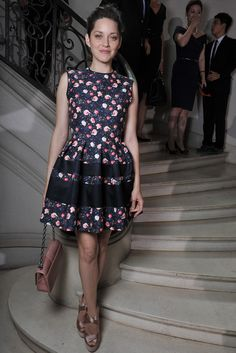 Marion Cotillard Front Row at Dior