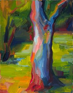 oil painting | Tree Trunk (Sanborn Park) | Ugallery Online Art Gallery