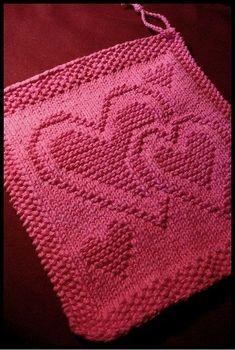 Be My Dishcloth pattern by Kris Knits | #Dishcloth #Knits #Kris #pattern …