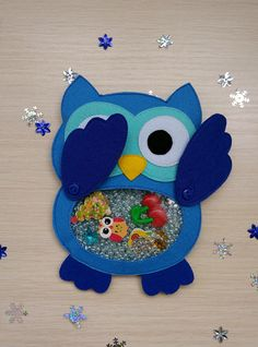 Owl, I Spy Bag,quiet book, Find Game, Eye Spy Game, Occupational Therapy, Felt toy, Soft owl, Felt owl, christmas gift, felt story. This is a fun busy game - look through the window and find the mystery items hidden in the bag. Included with the owl is a tablet with the same