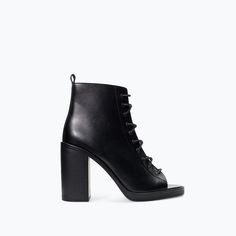 HIGH HEEL PEEP TOE BOOTIE-Shoes-TRF-SHOES & BAGS | ZARA United States
