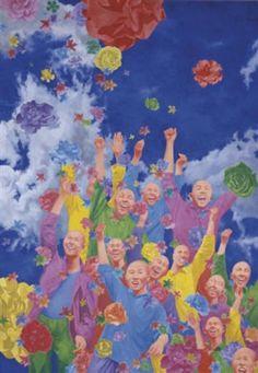 2001 UNTITLED (2 PARTS) - #1, Fang Lijun (方力钧; b1963, Handan, Hebei Province, China)