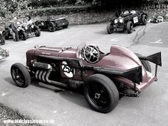 All is quiet for the timebeing with the Napier-Bentley at Loton Park.