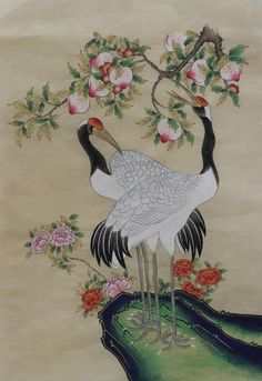 손유영의 민화이야기 Korean Painting, Chinese Painting, Chinese Art, Korean Illustration, Illustration Art, Korean Art, Asian Art, Traditional Paintings, Traditional Art