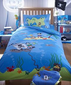 Blue 'Treasure Island' bed linen set - Kids bedroom - Kids -