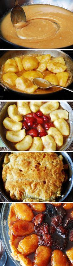Apple Strawberry Caramel Tart #Thanksgiving #Fall #Holidays