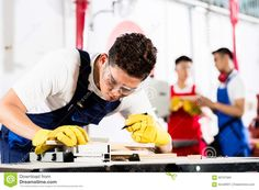 Team Of Industry Workers In Factory Stock Photo - Image: 56707584
