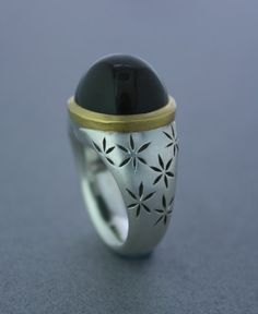 Black Moonstone Ring