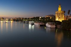River Cruise at night in Seville