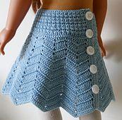 """Ravelry: Chevron skirt for 18"""" dolls pattern by Annastasia Cruz"""