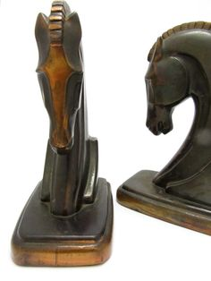Bronze Trojan Horse Bookends Vintage by Ray Dodge Circa Pam Brown, Vintage Bookcase, Trojan Horse, Library Shelves, Bookcase Styling, Ancient Greek, Olympia, Dodge, 1930s