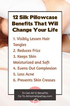 After noticing some incredible benefits after buying a silk pillowcase for my daughter, I decided I had to have one myself, and it's been life-changing. These silk pillowcase benefits are unbelievable until you put it to the test yourself. Great for hair, Satin Pillowcase, Spa Day At Home, Natural Beauty Tips, Natural Hair, Homemade Beauty Products, Alternative Health, Skin Care Tips, Your Skin, Health Tips