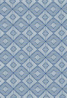 65320 Amazing Maze Ocean By Fschumacher Fabric Pattern Wallpaper Wallpaper Designs Simple Geometric Pattern