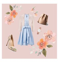 """""""5/27/16 - Peach"""" by angelic-demon-monster on Polyvore featuring Giambattista Valli, Chicwish, Larsson & Jennings, BaubleBar, Phase Eight, Summer, outfit, Leather, fashionset and simpledress"""
