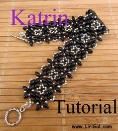 Katrin Superduo Beadwork Bracelet PDF Tutorial por Lirigal en Etsy