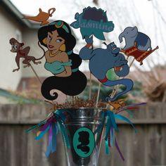 Disney's Princess Jasmine party centerpiece by ladybugkarla, $32.00