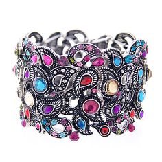 Vintage Finish Paisley Design Elastic Band Bracelet -- only $8.95 at MEEIN Fashion Jewelry (love this!)