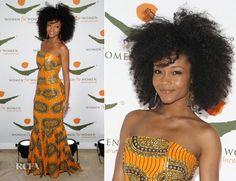 Yaya DaCosta In Tafari - 2012 Women for Women International Gala - Red Carpet Fashion Awards African Beauty, African Women, African Fashion, African Style, African Design, Yaya Dacosta, Afro, African Inspired Clothing, My Black Is Beautiful