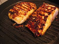 Grilled Halibut or Salmon basted several times with sauce: 2 Tbsp butter, 2 Tbsp honey, 2 cloves minced garlic, 1 Tbsp fresh lemon juice, 1 Tbsp soy sauce, salt & pepper to taste