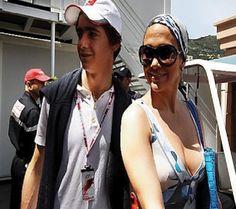 Esteban Gutierrez y Jenifer Lopez en foto de archivo