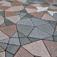 Complex star patter forms this outdoor plaza in Finland - bathroom tile design ideas