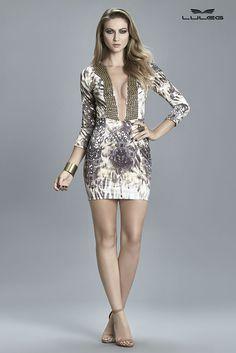 Vestido justo estampado :: RZM Shop