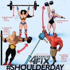 Shoulder Workout Program including shoulder press, lateral raises
