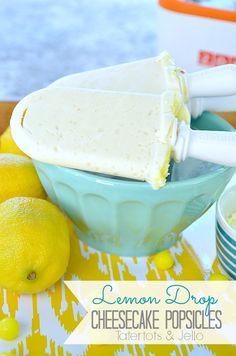 lemon drop cheesecake popsicle recipe at tatertots and jello