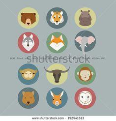 animal face - stock vector