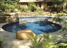 Inground Liner Pool  21u0027 X 35u0027 Mountain Lake In Elma, NY | Inground Liner  Pools | Pinterest