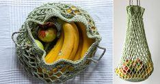 Plastbanta: Virka en enkel & snygg nätkasse för frukt och grönt! | Land.se Fruit Storage, Bastilla, Free Crochet, Plast, Decoupage, Crochet Patterns, Banana, Projects To Try, Hobbies