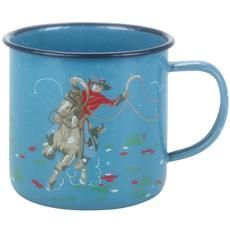 Enamel mugs have come a long way as this cowboy one from Cath Kidston shows