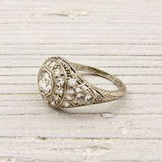 Vintage engagement ring, circa 1925.