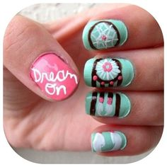 dream catcher nails♥