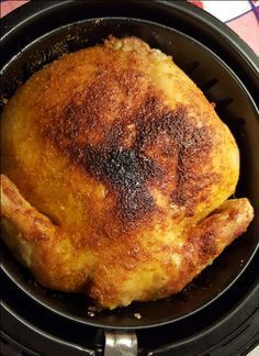 Delicious Rotisserie Chicken, cooked to perfection in an Air Fryer.                                                                                                                                                                                 More