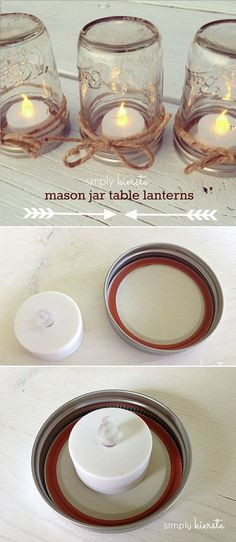 DIY Mason Jar Lights / http://www.himisspuff.com/diy-wedding-centerpieces-on-a-budget/18/