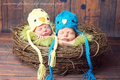 Newborn twin photo ideas.