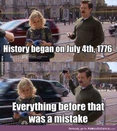 Ron Swanson on History