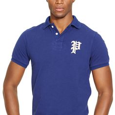 """New addition to the collection also in white 2015 - Custom-Fit Gothic """"P"""" Polo - RalphLauren.com"""