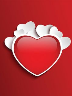 hearts on red background A 584x780 Hearts On Red background, Happy Valentines Day Wallpapers