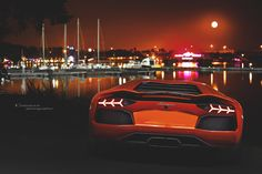 Photograph lamborghini Aventador.Arancio Argos . by Chensan by  Chensan on 500px