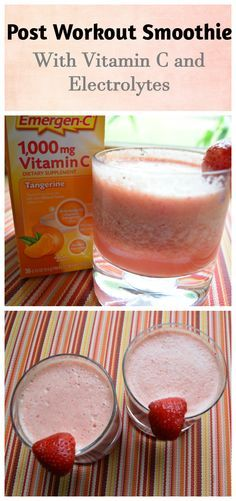 #ad Try this Post Workout Smoothie made with berries, melon, and Emergen-C for added electrolytes and Vitamin C. It is great for summer hydration!