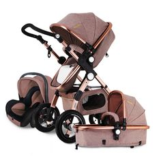 167.56$ Watch now - http://aliml4.worldwells.pw/go.php?t=32794095370 - Baby Stroller 3 in 1 with Car Seat For Newborn High View Pram Folding Baby Carriage 2 in 1 Travel System 167.56$
