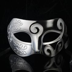 Thunder White VENETIAN Mask Halloween Mardi Gras Carnival Costume Prom Party FS