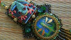 Rain Forest Tree Frog Necklace от OhMyBeadingHeart на Etsy