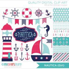 Clipart Combo  Nautica Girl / Nautical / Marine by MyClipArtStore